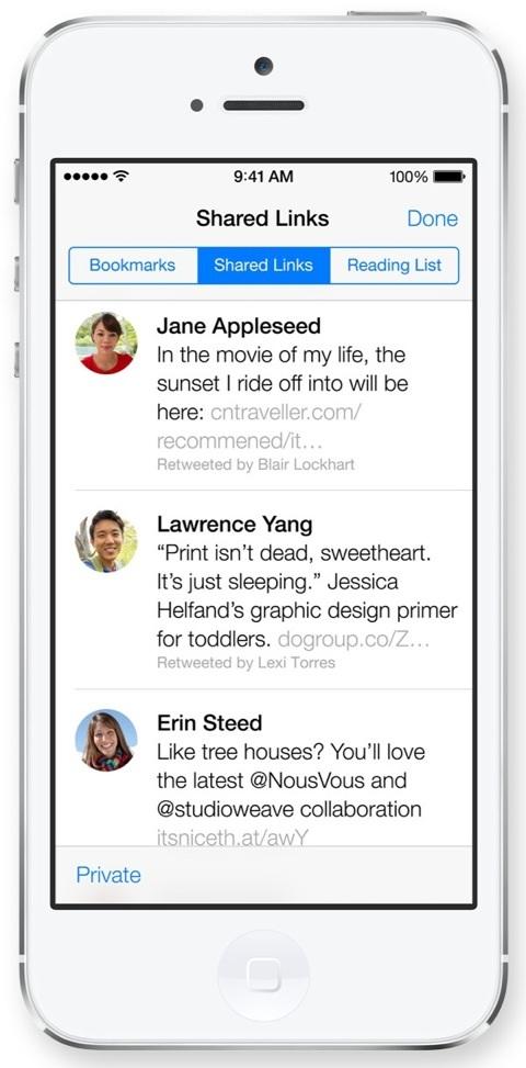 Safari en iOS 7