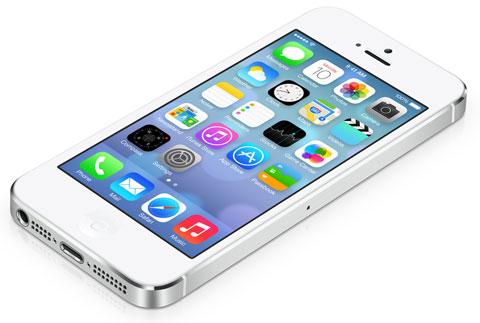 iOS 7 en un iPhone 5
