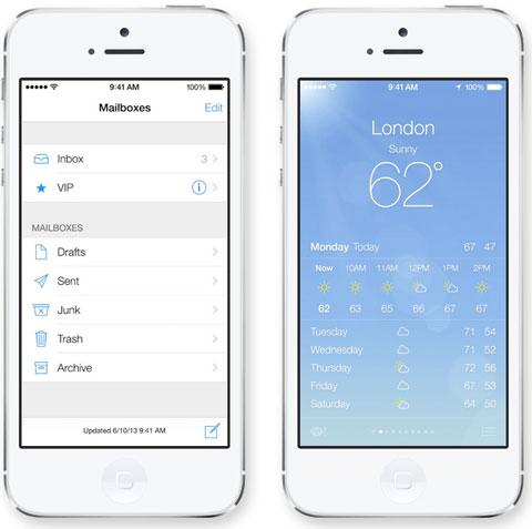 App de Mail y del Tiempo