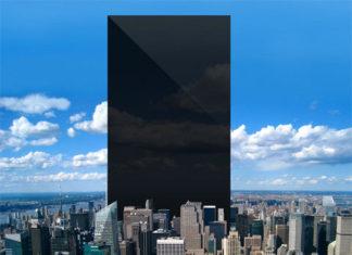 Una pantalla gigante en Manhattan