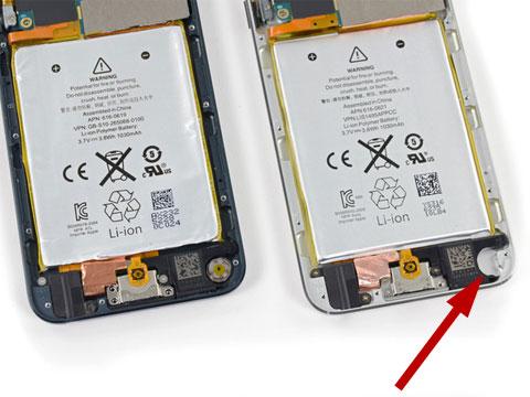 Nuevo iPod touch por dentro con el hueco