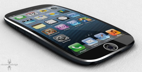 iPhone con forma ovalada