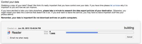 Descargando datos de Google Reader