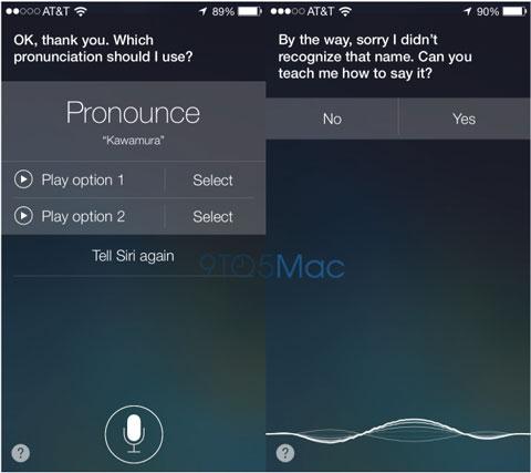 Siri pronunciando correctamente un nombre