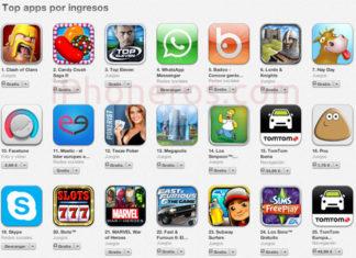 Top por ingresos en la App Store