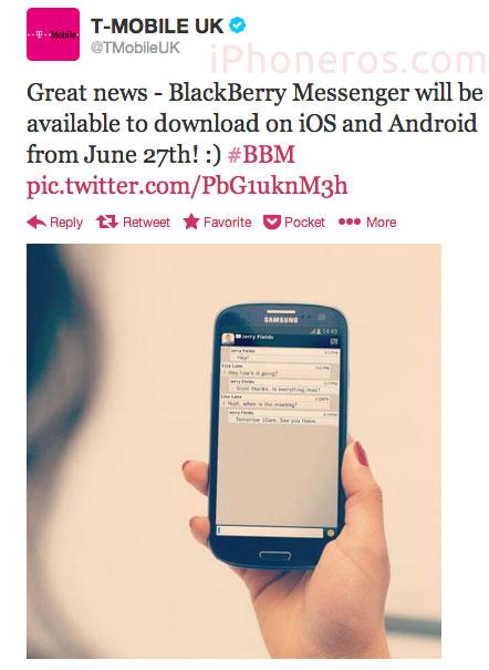 Tweet de T-Mobile