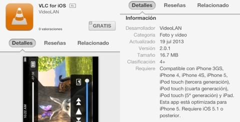 VLC en la App Store