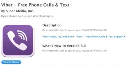 Viber en la App Store