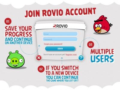 Sistema de cuentas de usuario de Rovio