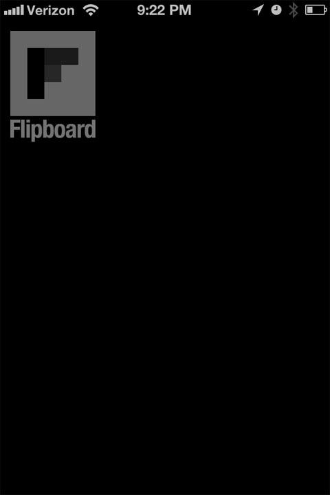 Flipboard vacío de contenido