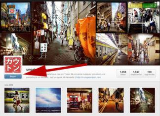 Botón de seguir en Instagram