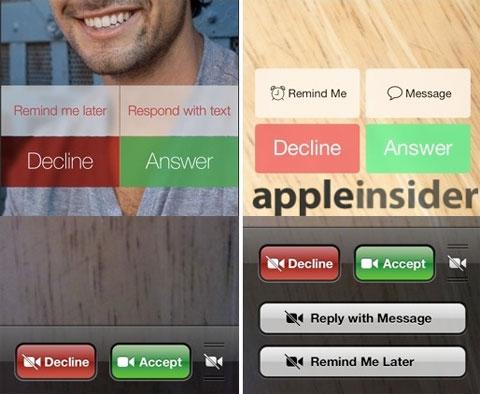 Botones de llamada antes y después