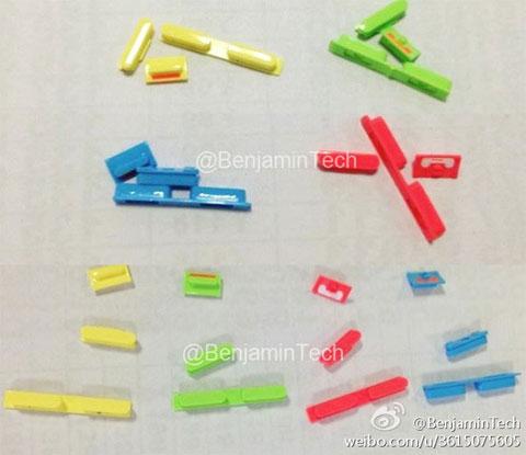 Supeustos botones de colores del rumoreado iPhone de bajo coste