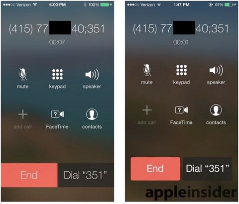 Cambio de la interfaz de Teléfono en iOS 7 beta 4