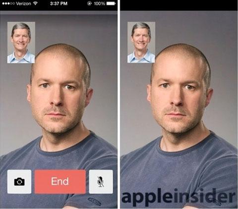 FaceTime en iOS 7