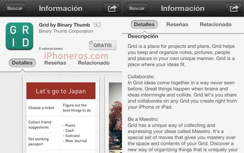 Grid en la App Store