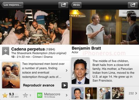 App de IMDb para iOS
