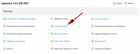 El iOS Dev Center vuelve a estar disponible