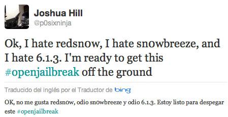 Twitter de Joshua Hill