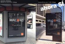 Publicidad de Orange en Málaga