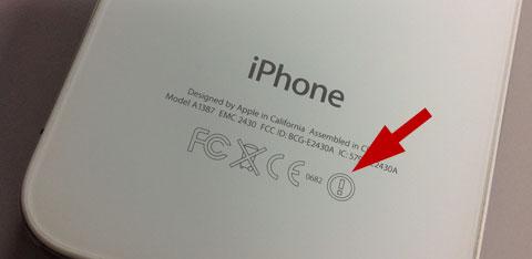 Marca del círculo con exclamación en el iPhone
