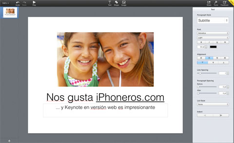 Keynote en version web
