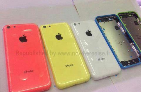 Carcasas de plástico de un supuesto iPhone de bajo coste