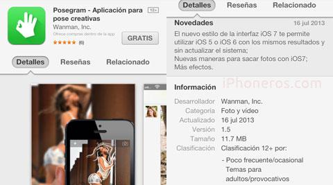 Posegram en la App Store