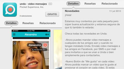 Unda en la App Store