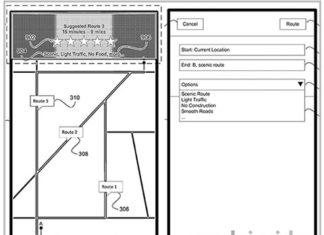 Patente de rutas de Apple