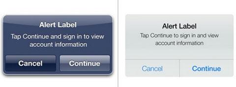 Alertas en iOS 6 e iOS 7