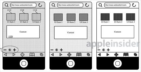 Nueva patente de Apple para cambiar partes de una interfaz