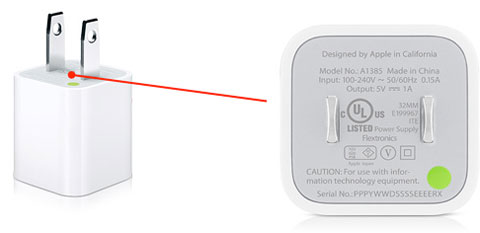 Cargador original de Apple