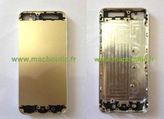 Piezas del supuesto iPhone 5S de color Champagne
