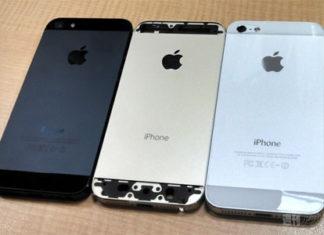Supuesta carcasa de iPhone de color Champán
