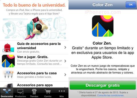 Color Zen gratis con un código promocional en la App de la Apple Store