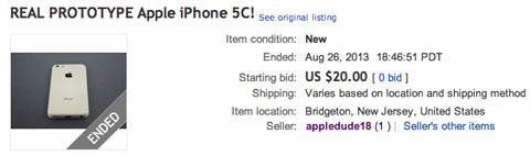 Carcasa de iPhone 5C en eBay