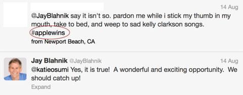 Twitter de Jay Blahnik