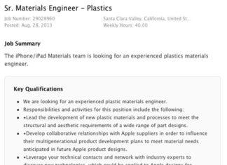 Oferta de trabajo para un ingeniero en plásticos
