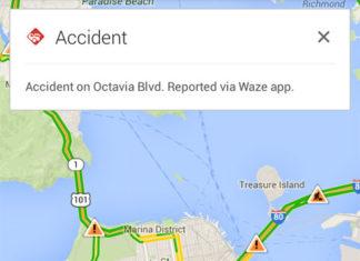 Información de Waze en Google Maps