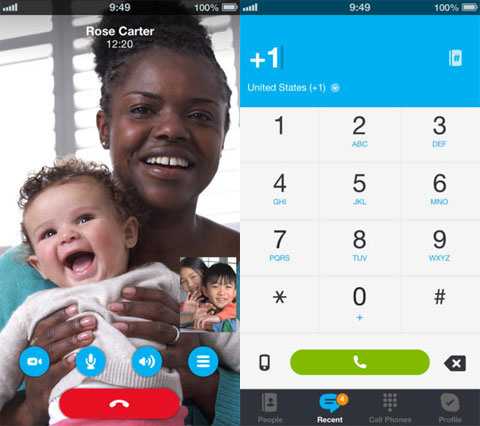 Skype con videollamadas HD