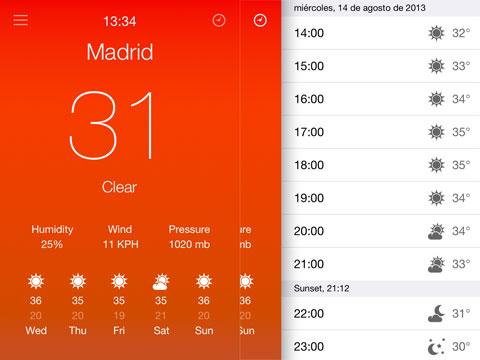 Aero con el Tiempo de Madrid