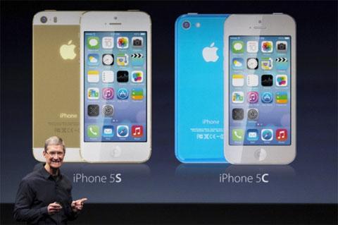 Tim Cook presentando el iPhone 5S, 5C e iPad 5