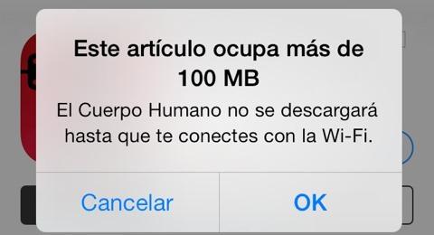 Límite de 100 MB