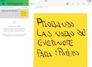 Probando las notas de Evernote para iPaderos