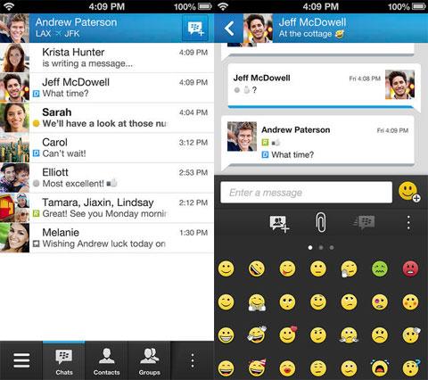 BlackBerry Messenger para iPhone