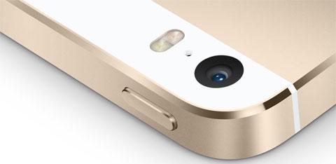 Cámara del iPhone 5S dorado