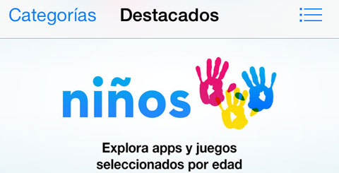 Nueva categoría para niños