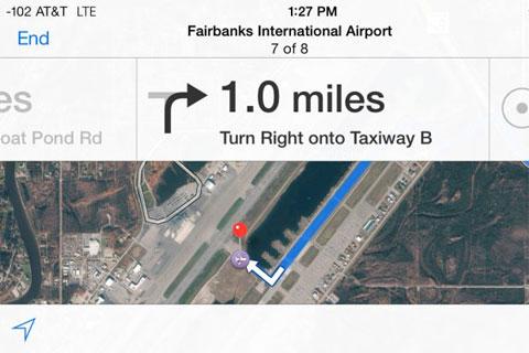 Indicaciones en el Aeropuerto