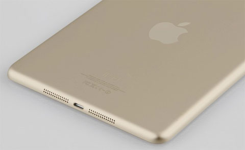 Supuesto iPad mini 2 de color dorado